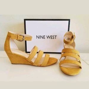 CASUAL WEDGES HEELS, Color: Yellow, Size 6.5 NEW